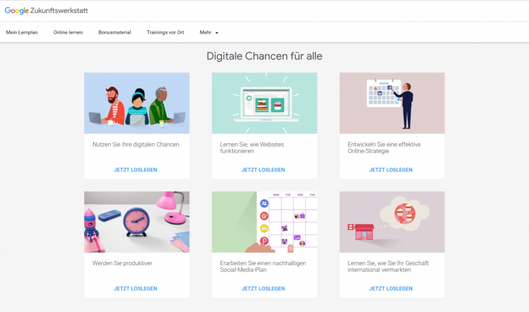 smyle Webdesign-Erfahrungen mit der Google Zukunftswerkstatt-Blog-Übersicht Lektionen