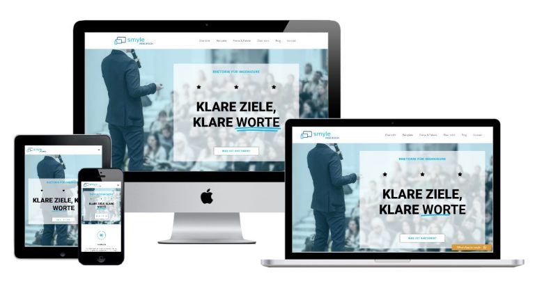 smyle-webdesign-beispiel-website-rhetorik-kommunikation-trainer-coach-homepage